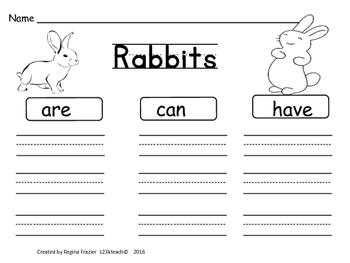 Rabbits, Writing Activities, Graphic Organizers, Diagram