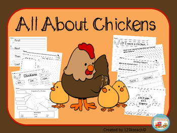 All About Chickens, Writing Activities, Graphic Organizers