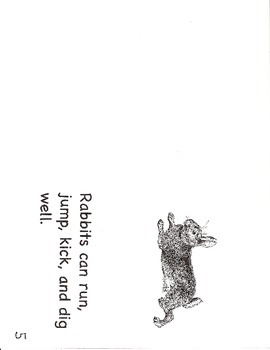 Rabbits- a non-fiction guided reading book