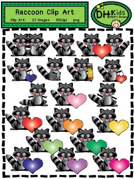 Raccoon Clip Art - Personal and Commercial Use