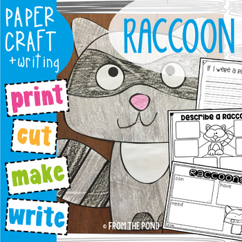 Raccoon Craftivity - Paper Craft with Writing Pages