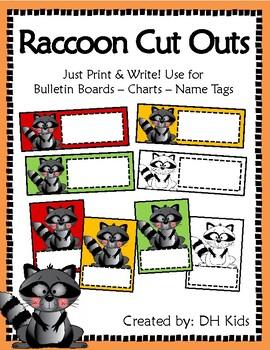 Raccoon Cut Outs