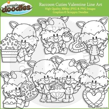 Raccoon Cuties Valentines