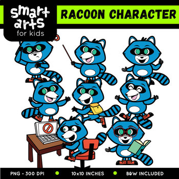 Raccoon Digital Clipart