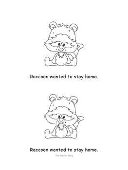 Raccoon Goes to School- Emergent Reader
