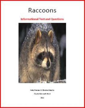 Raccoon Informational Text and Questions