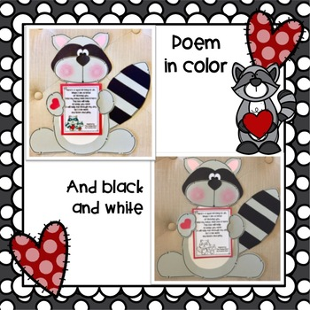 Raccoon Kisses: Craft, Class Book, & Poem for Back to School Craft