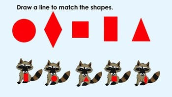 Raccoon Math (The Kissing Hand) for Interactive SmartBoard (Notebook)