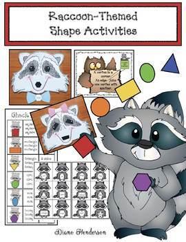 Raccoon Themed Shape Packet