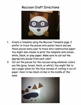Raccoon and Corn Craft