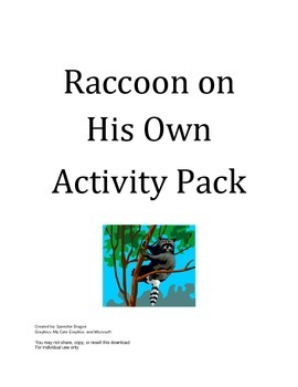 Raccoon on His Own Activity Pack