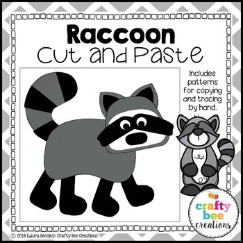 Raccoon Cut and Paste