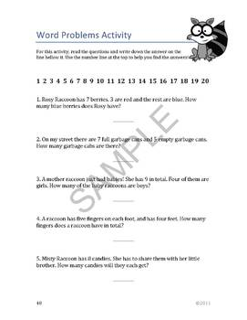 """""""Raccoons"""" Common Core Aligned Math and Literacy Unit - SMARTBOARD EDITION"""