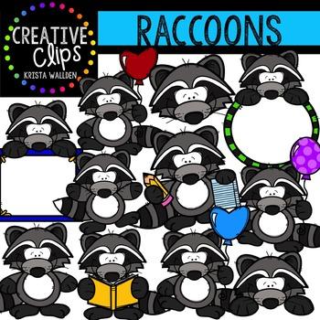 Raccoons {Creative Clips Digital Clipart}