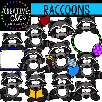 Raccoons {Creative Clips Digital Clipart}