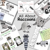 Raccoons Paper Crafts, Activities And Clip Art Collection