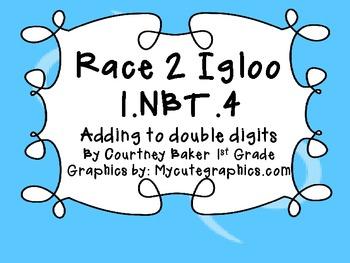Race 2 Igloo Double Digit addition