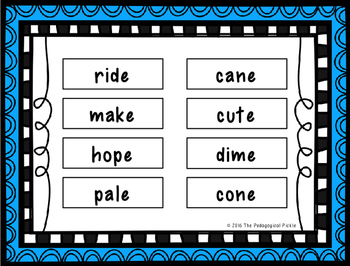 Race 2 Rhyme -- A cvce Word Rhyming Game