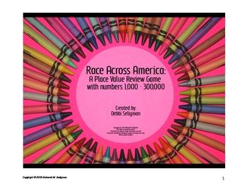Race Across America: Place Value Comparison Review Game