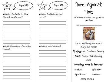 Race Against Time Trifold - 4th Grade Literacy by Design Theme 16