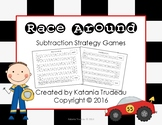 Race Around Subtraction Fact Fluency Games by Strategy BUNDLE
