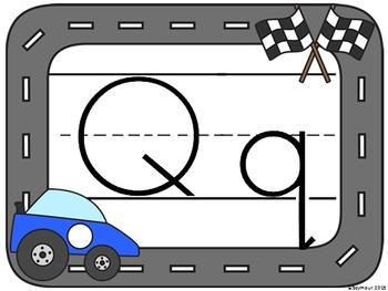 Race Car Alphabet Posters