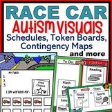 Race Cars Autism Behavior Visuals: Schedules, Token Boards, Core Words & More!
