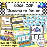 Race Car Classroom Decor Bundle