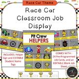 Race Car Classroom Job Helper Display