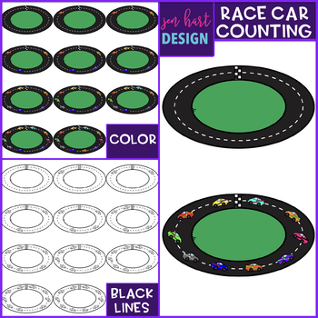 Race Car Clip Art - Race Car Counting {jen hart Clip Art}