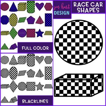 Race Car Clip Art - Race Car Shapes {jen hart Clip Art}