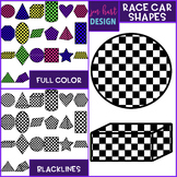 Race Car Clip Art - Race Car Shapes {jen hart Clip Art}