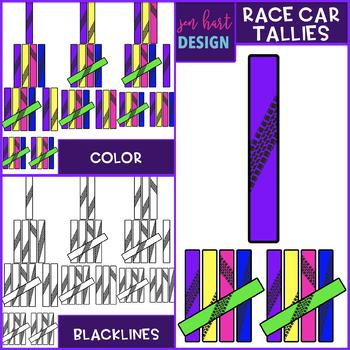 Race Car Clip Art - Race Car Tally Marks {jen hart Clip Art}