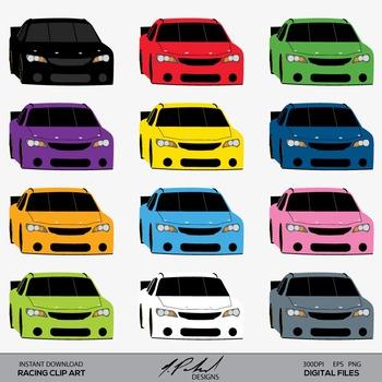 Race Car Clip Art - Racing Clip Art - Car Clip Art