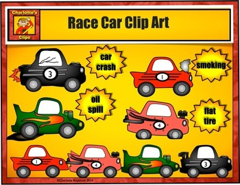 Race Car Clip art from Charlotte's Clips