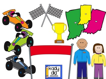 Race Car Clipart by Kady Did Doodles