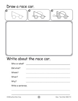 Race Car (Draw...Then Write)
