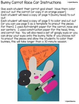 Race Car Easter Bunny Speech Therapy Craft {articulation language craftivity}