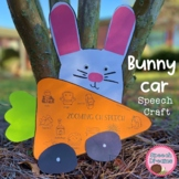 Race Car Easter Bunny Speech Therapy Craft {articulation l