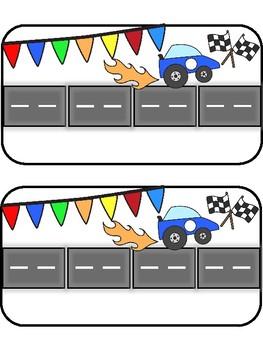Race Car Elkonin Boxes