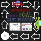 Race Car Goal Tracker/Goal Certificates