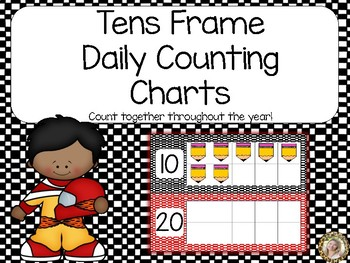 Race Car Interactive Counting the Days of School Bulletin Board