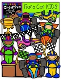 Race Car KIDS {Creative Clips Digital Clipart}