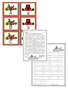 Race Car Letter Matching