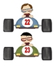 Race Car Number Flashcards