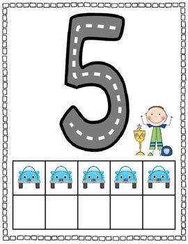 Race Car Number Mats