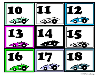 Race Car Numbers
