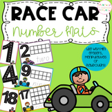 Race Car Playdough Number Mats