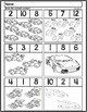 Race Car Quantity Worksheets | Numbers 1-12