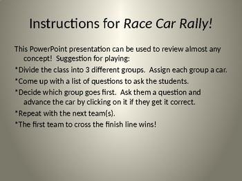 Race Car Rally Game